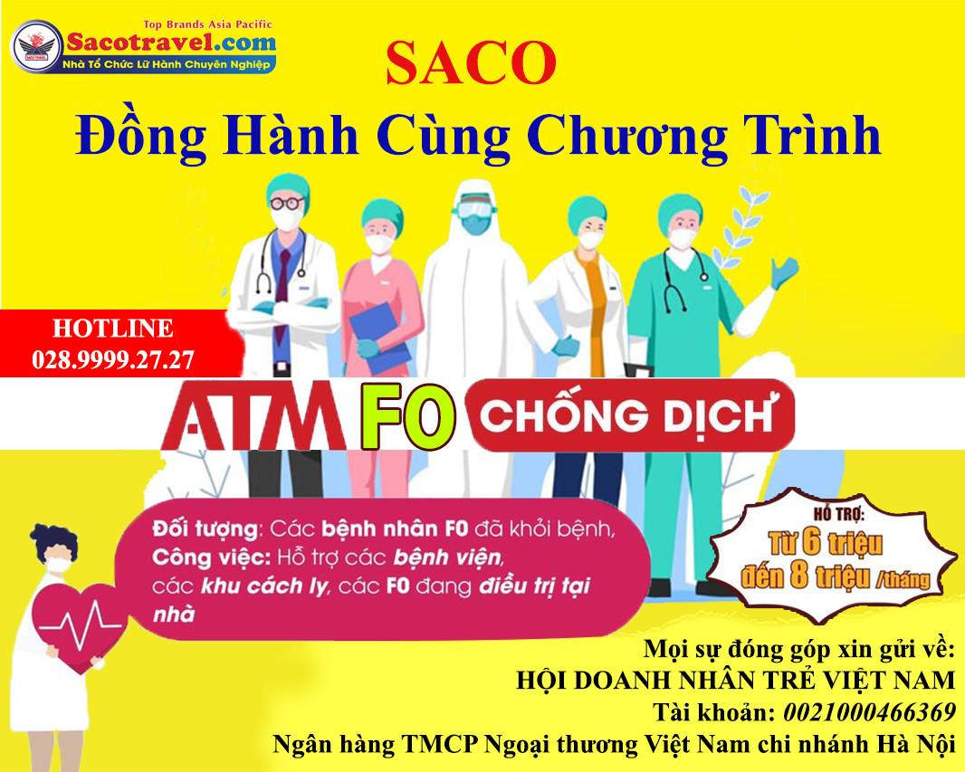 Saco đồng hành cùng ATM F0 chống dịch